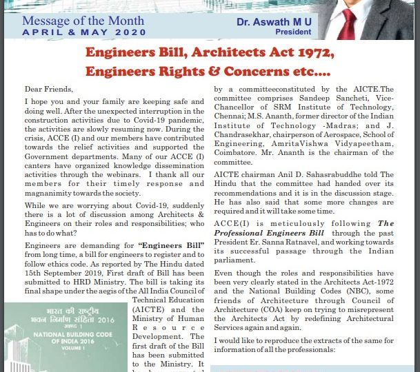 ACCE I Newsletter May 2020