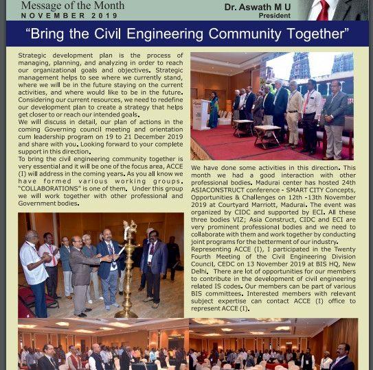 ACCE I Newsletter Nov 2019